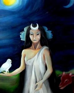Hekate. - Artwork by Devotee – Martina Santarsiero (Italy). Used with permission of the Artist.