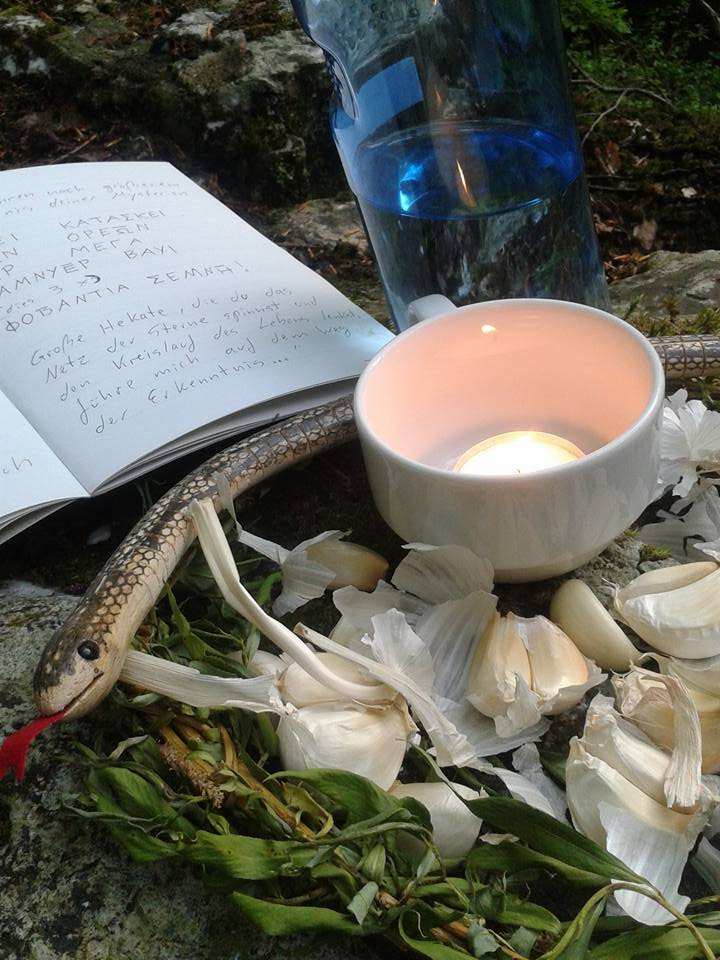 Makeshift altar for RoHsF 2015 in Taunus Mountains (Germany), by CoH devotee Rabenzahl