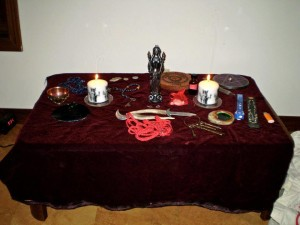 Sanctuary of Hekate Einalian - the altar for the 2015 Mysteries