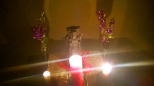 Shrine dedicated to the Goddess Hekate, by Francine in Brazil.