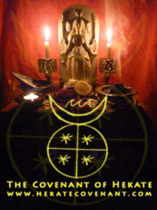 Hekate Hekate Hekate - Dark Mother - you walk with us like no other Dark Mother.  Hecate Hecate Hecate - Dark Mother - you walk with us like no other - Dark Mother.