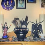 Shrine for a fullmoon rite, by Hekatos